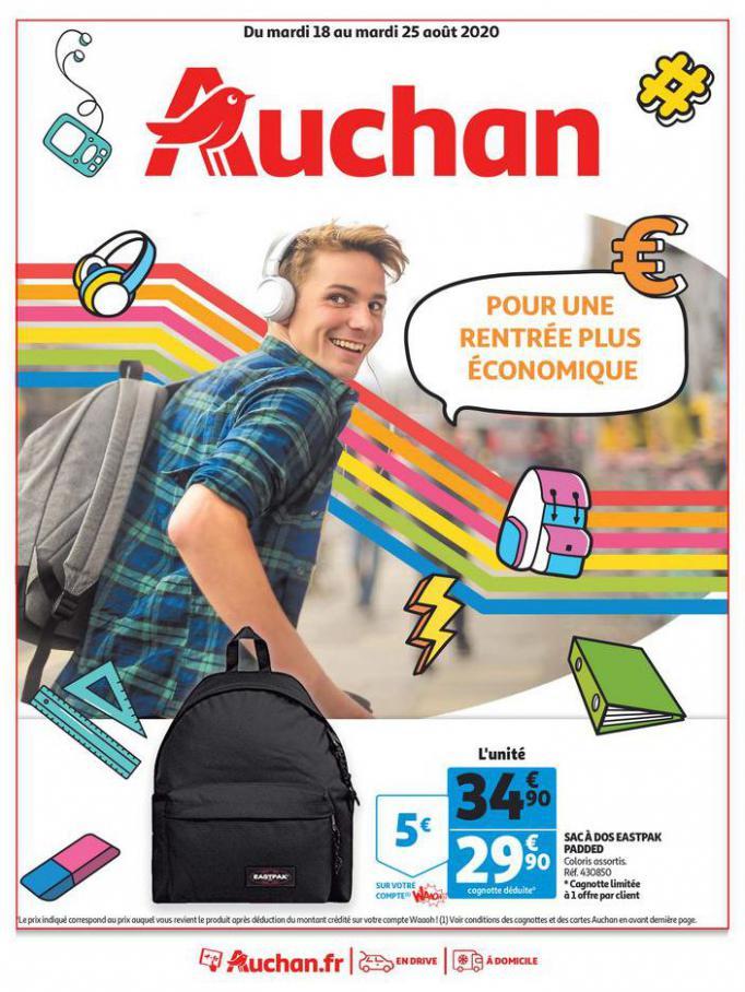 Pour une rentrée plus économique . Auchan (2020-08-25-2020-08-25)