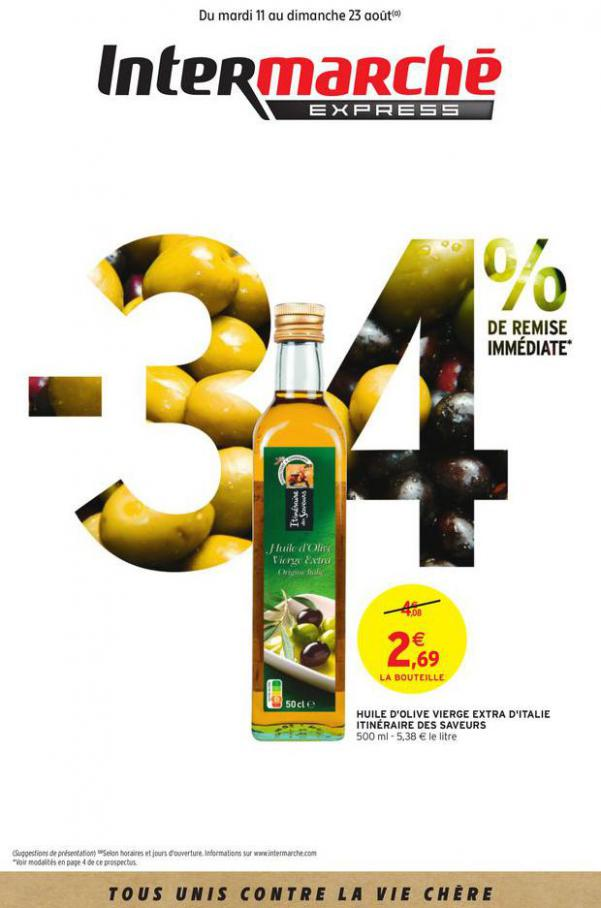 - 34% DE REMISE IMMEDIATE . Intermarché Express (2020-08-23-2020-08-23)