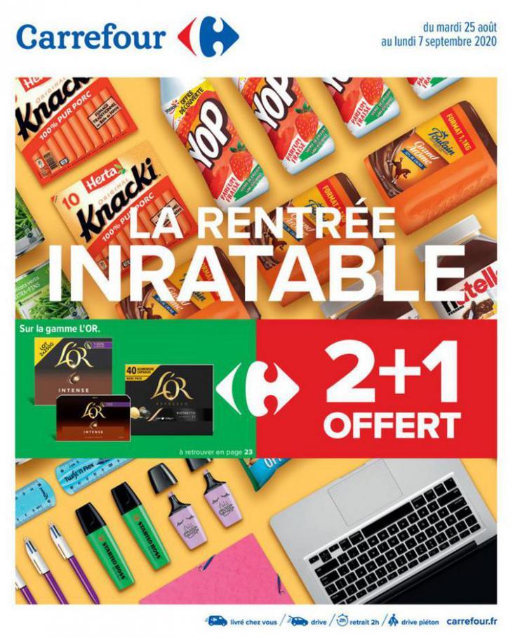 La rentrée inratable ! . Carrefour (2020-09-07-2020-09-07)