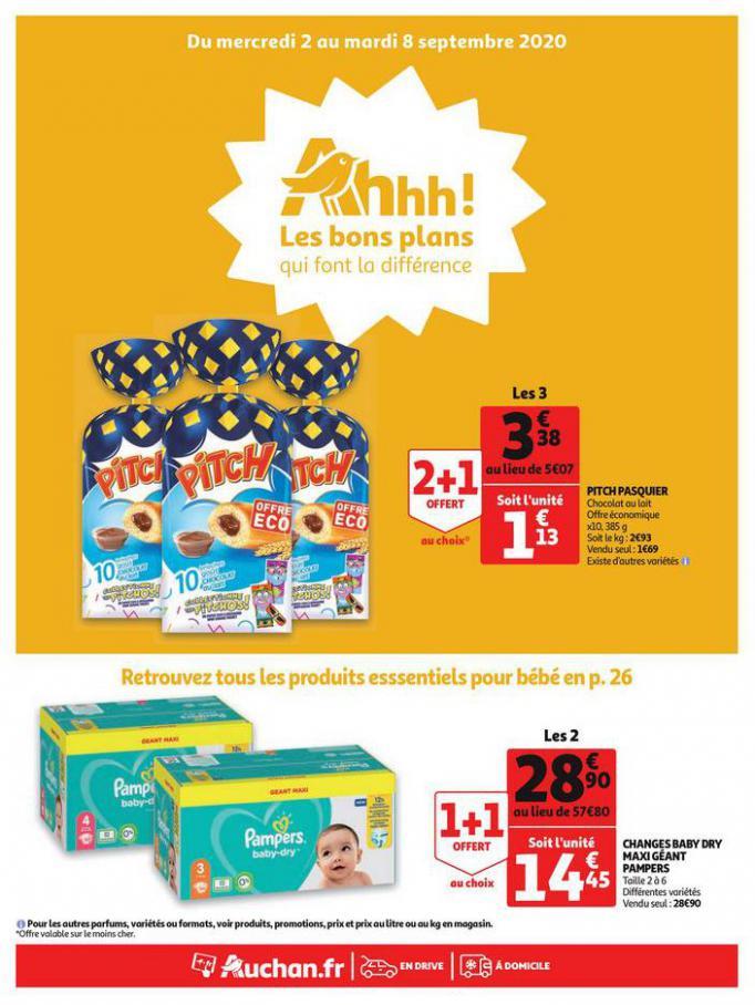 Les bons plans qui font la différence . Auchan (2020-09-08-2020-09-08)