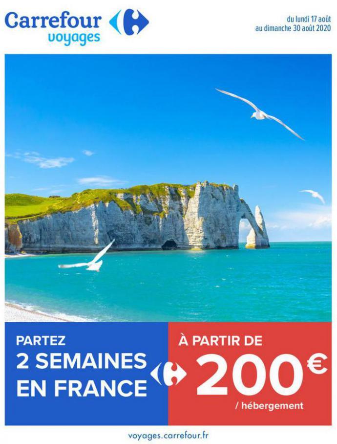 Partez 2 semaines en France . Carrefour (2020-08-30-2020-08-30)