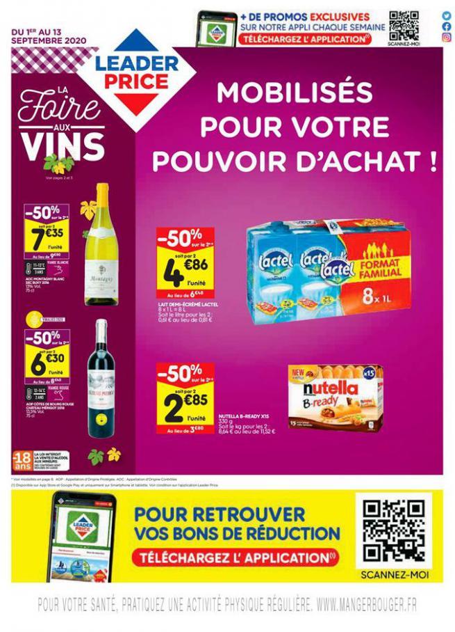 La foire aux vins . Leader Price (2020-09-13-2020-09-13)