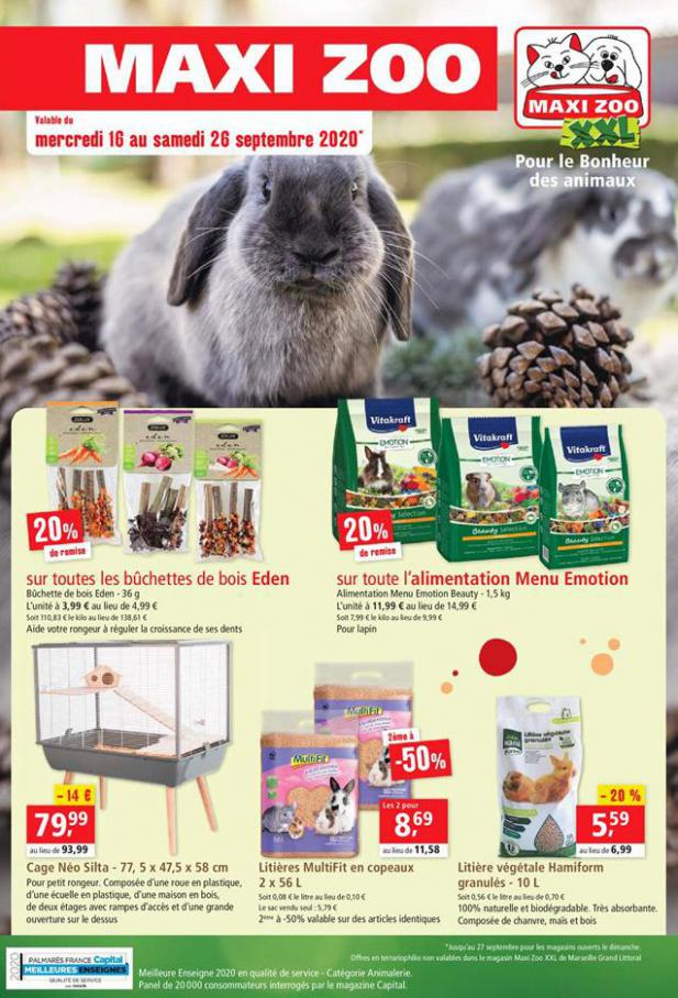 Offres Maxi Zoo . Maxi Zoo (2020-09-26-2020-09-26)