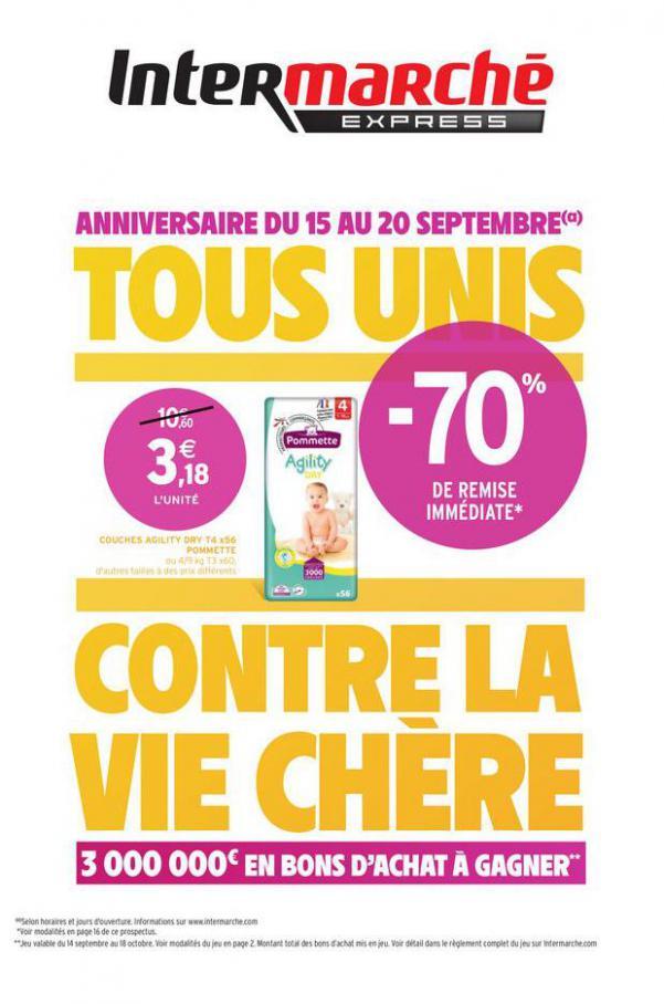 TOUS UNIS CONTRE LA VIE CHERE . Intermarché Express (2020-09-20-2020-09-20)