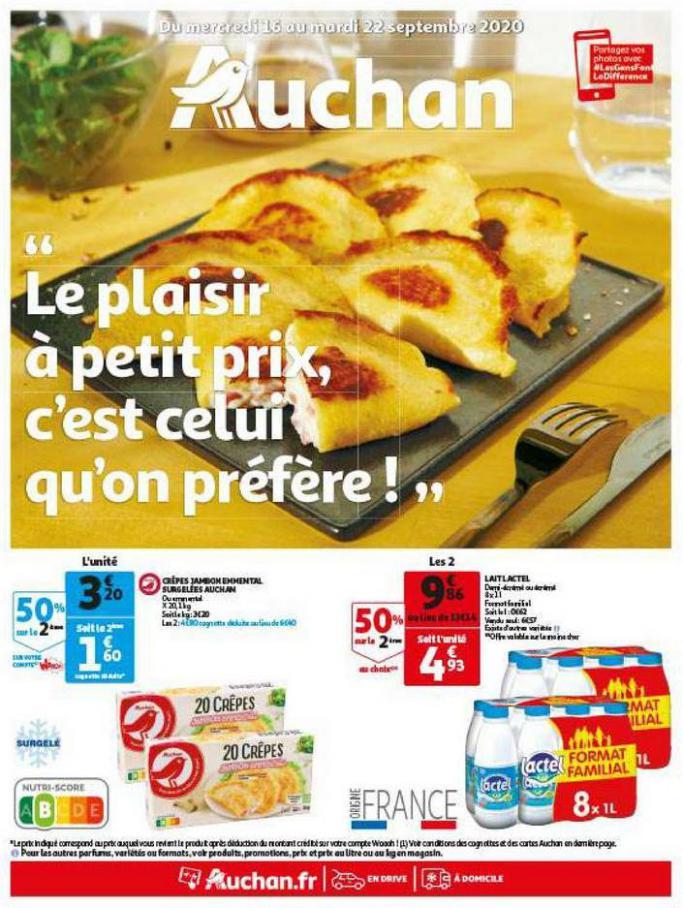 Le plaisir à petit prix . Auchan Direct (2020-09-22-2020-09-22)