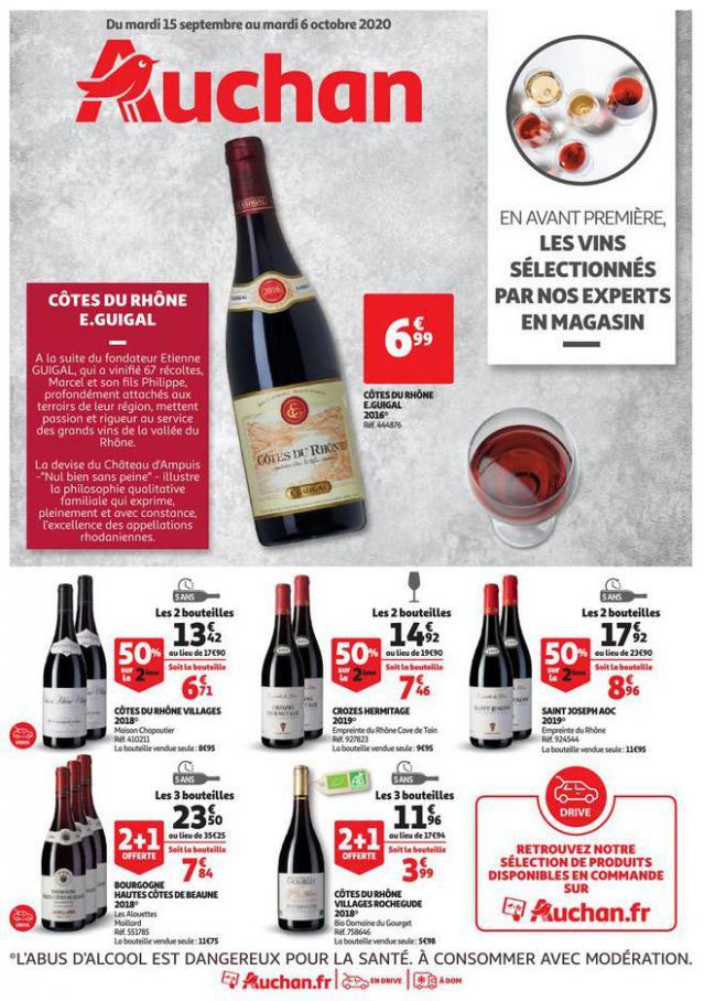 Sélection de vins en avant première . Auchan Direct (2020-10-06-2020-10-06)