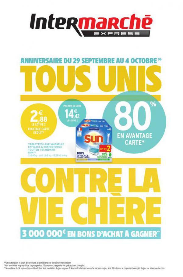 TOUS UNIS CONTRE LA VIE CHÈRE . Intermarché Express (2020-10-04-2020-10-04)