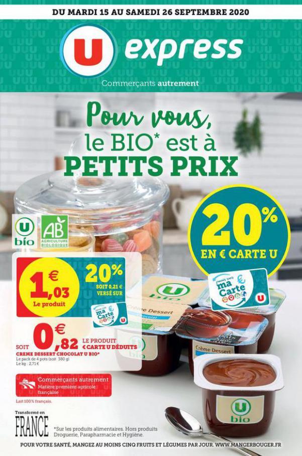 POUR VOUS, LE BIO EST À PRIX PROMO . U Express (2020-09-26-2020-09-26)