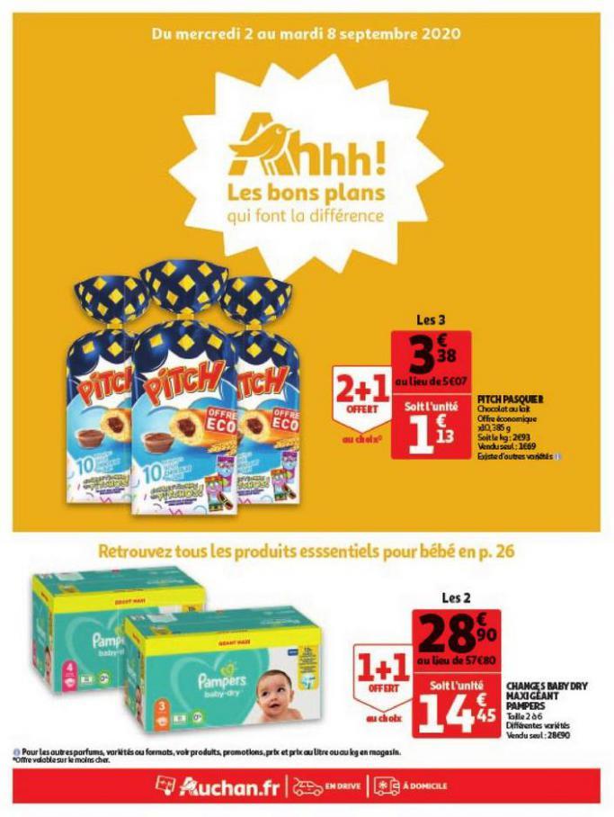 Les bons plans qui font la différence . Auchan Direct (2020-09-08-2020-09-08)