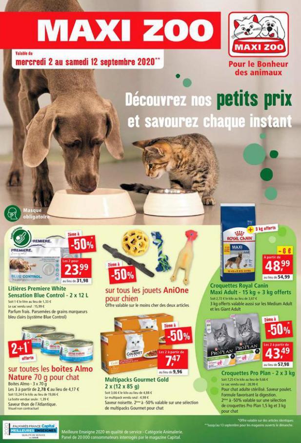 Offres Maxi Zoo . Maxi Zoo (2020-09-12-2020-09-12)
