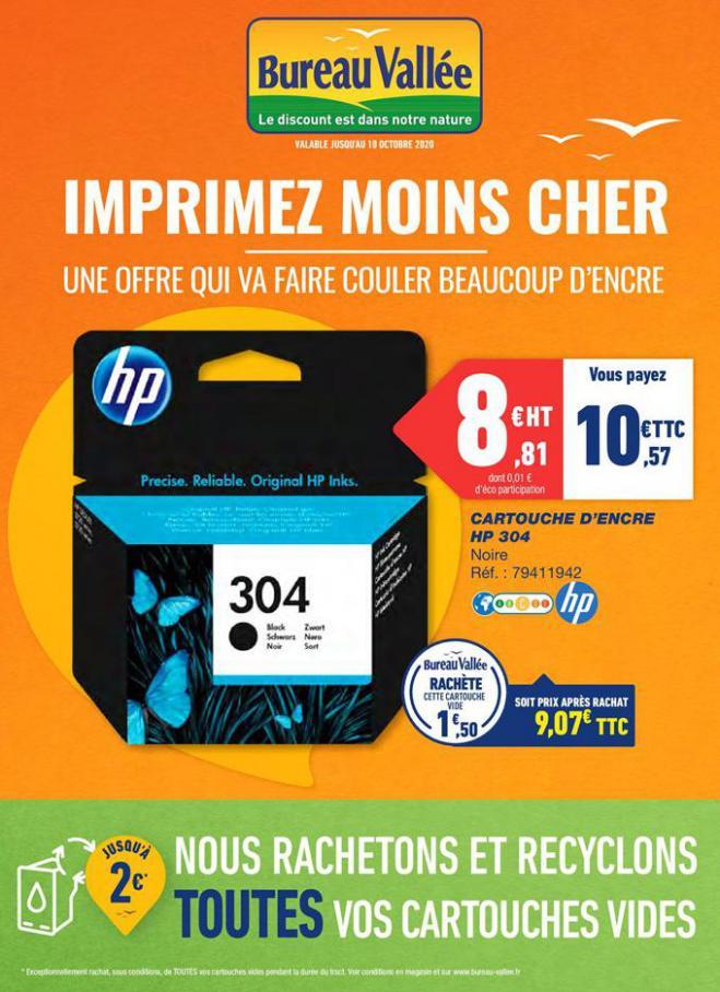 Imprimez moins cher . Bureau Vallée (2020-10-10-2020-10-10)