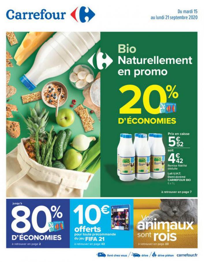 Bio naturellement en promo . Carrefour (2020-09-21-2020-09-21)
