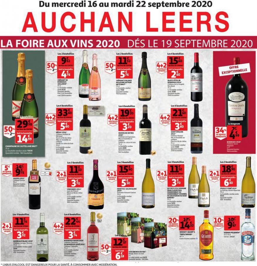 La pré-foire aux vins Auchan Leers . Auchan Direct (2020-09-22-2020-09-22)