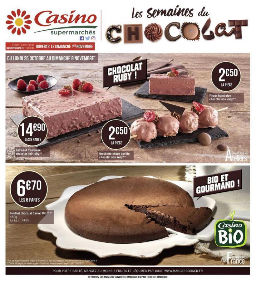Les semaines du chocolat . Casino Supermarchés (2020-11-08-2020-11-08)