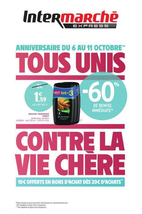TOUS UNIS CONTRE LA VIE CHÈRE . Intermarché Express (2020-10-11-2020-10-11)