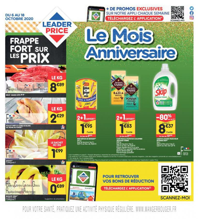 Le Mois Anniversaire . Leader Price (2020-10-18-2020-10-18)