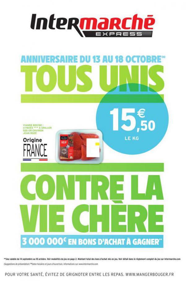 TOUS UNIS CONTRE LA VIE CHÈRE . Intermarché Express (2020-10-18-2020-10-18)
