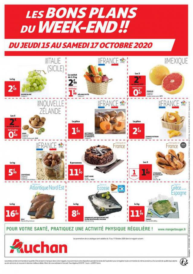 Les bons plans du week-end  . Auchan (2020-10-17-2020-10-17)