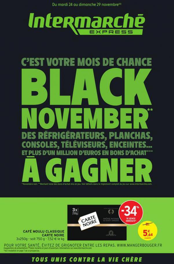 BLACK NOVEMBER . Intermarché Express (2020-11-29-2020-11-29)