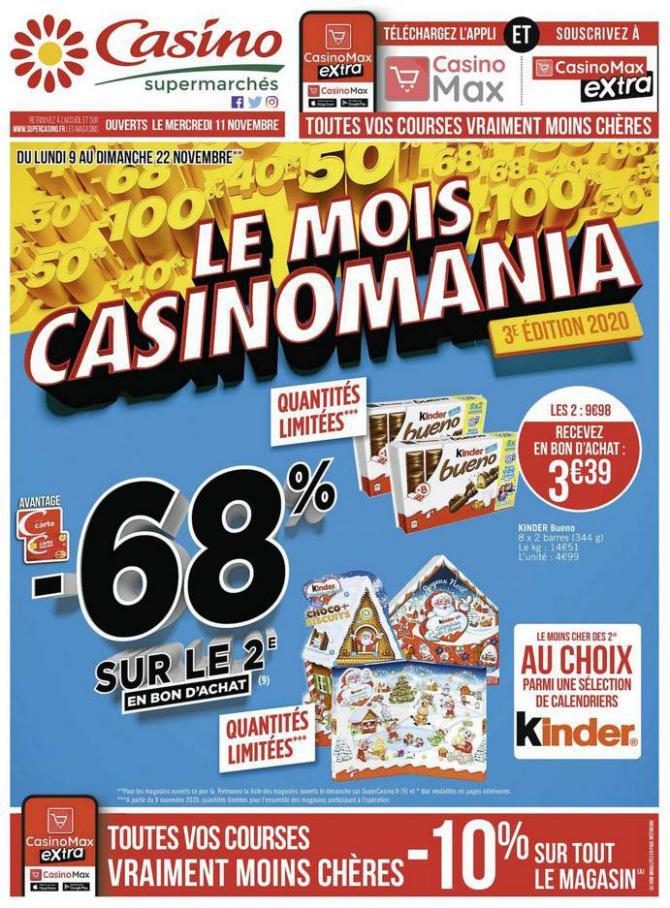 Le mois Casinomania . Casino Supermarchés (2020-11-22-2020-11-22)