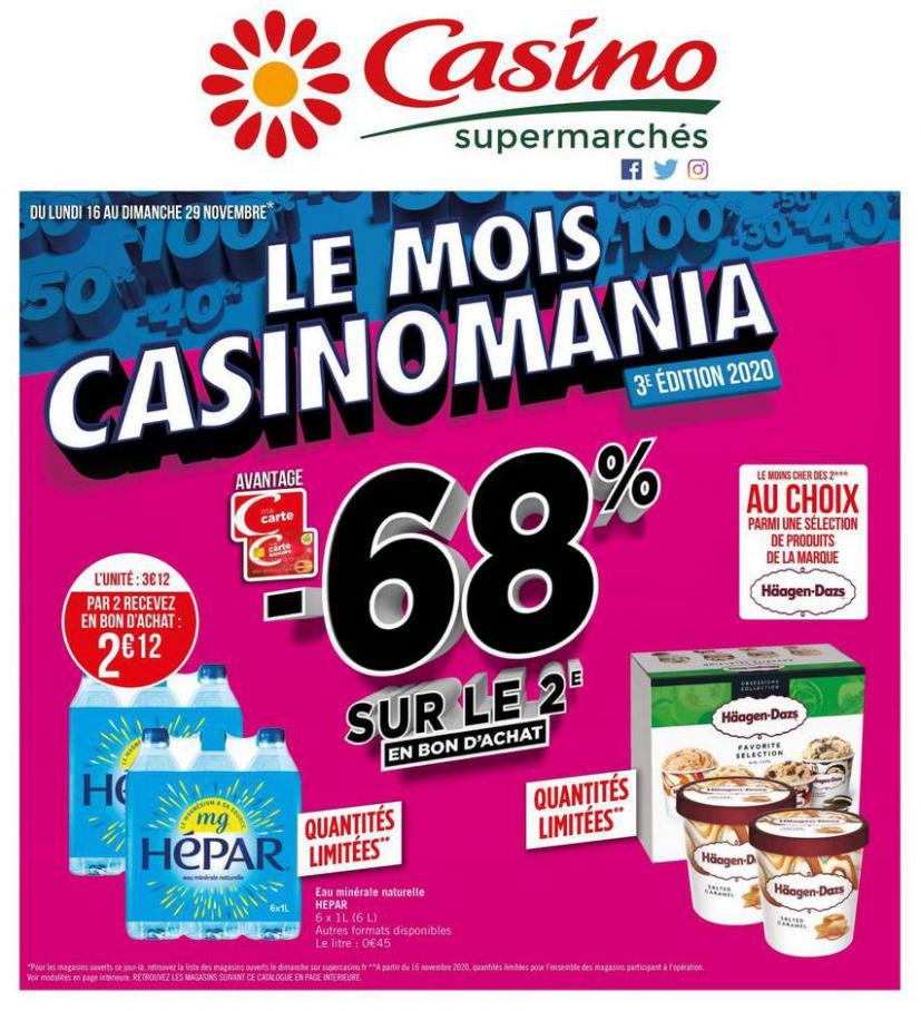Le mois Casinomania . Casino Supermarchés (2020-11-29-2020-11-29)