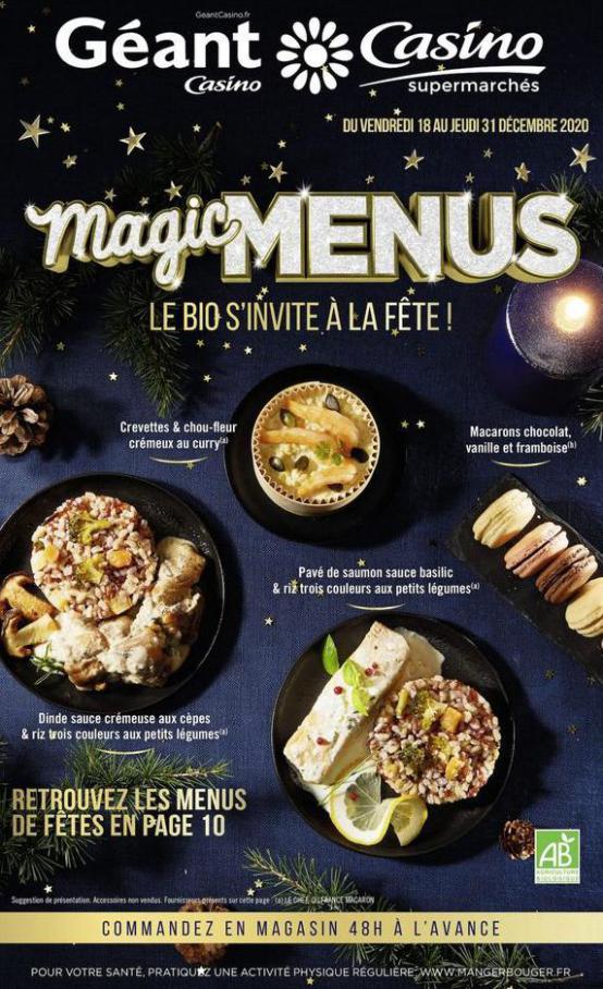 Magic menus . Casino Supermarchés (2020-12-31-2020-12-31)