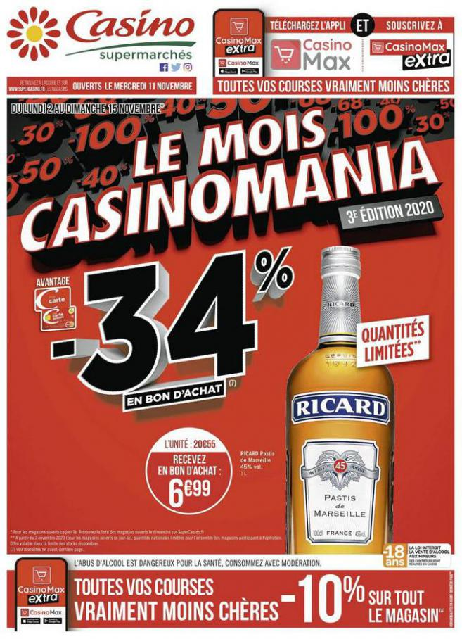 Le mois Casinomania . Casino Supermarchés (2020-11-15-2020-11-15)