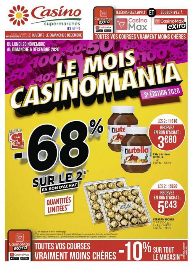 Le mois Casinomania . Casino Supermarchés (2020-12-06-2020-12-06)