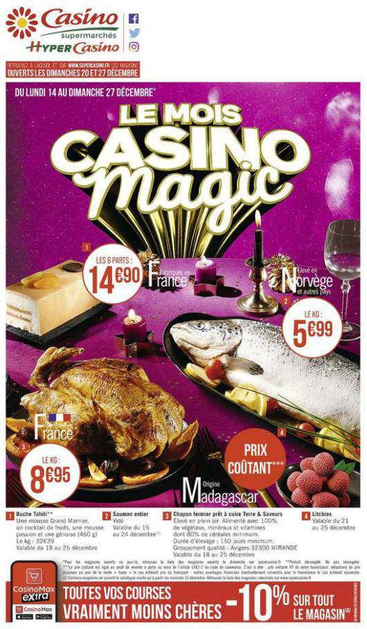 Le mois Casino magic . Casino Supermarchés (2020-12-27-2020-12-27)