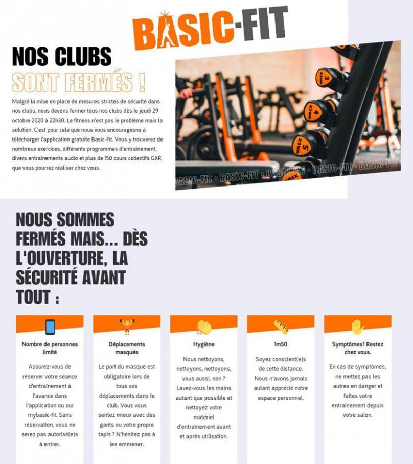 Nos clubs sont fermés! . Basic Fit (2021-01-04-2021-01-04)