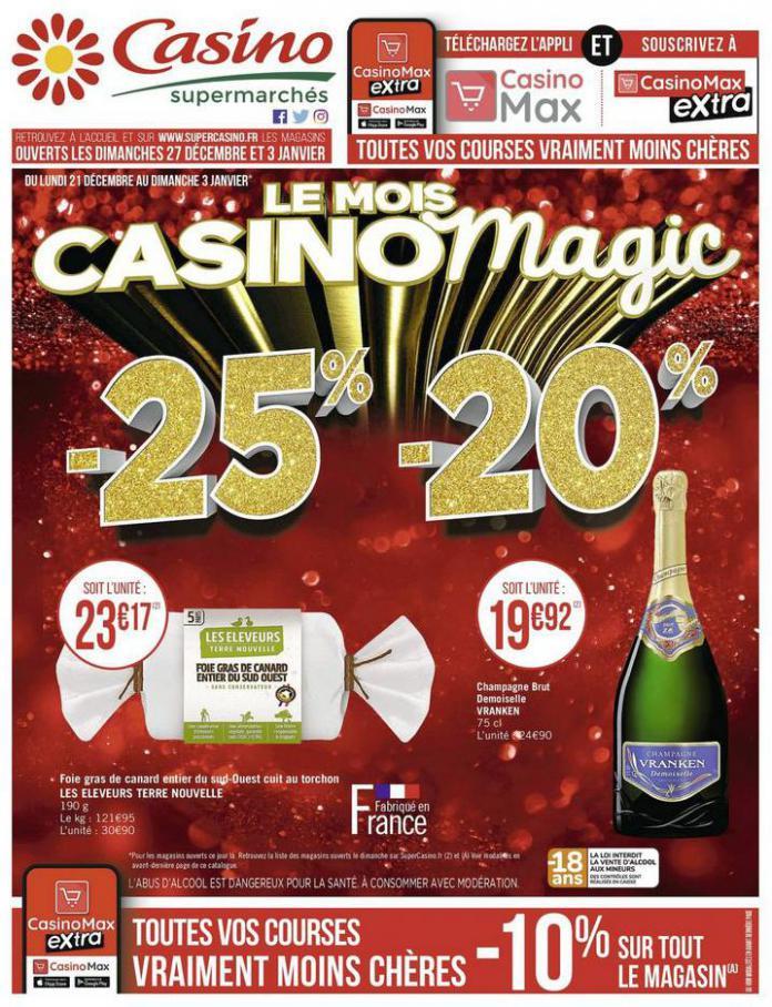 Le mois Casino magic . Casino Supermarchés (2021-01-03-2021-01-03)