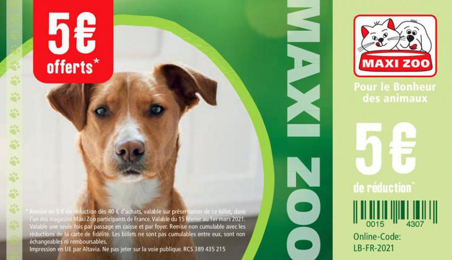 Offres Maxi Zoo . Maxi Zoo (2021-03-01-2021-03-01)
