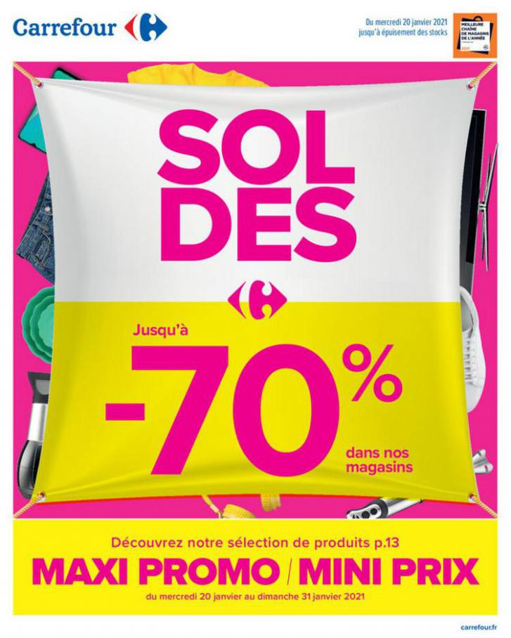 Soldes maxi promo mini prix . Carrefour (2021-01-17-2021-01-17)