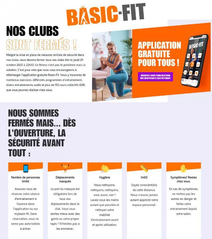 Nos clubs sont fermés! . Basic Fit (2021-02-08-2021-02-08)