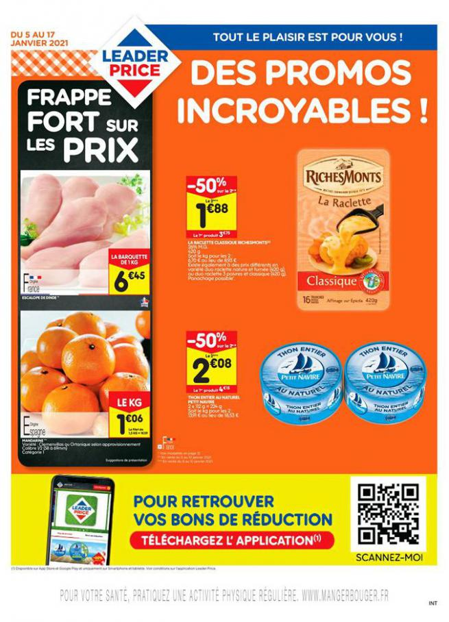 Des Promo Incroyables ! . Leader Price (2021-01-17-2021-01-17)