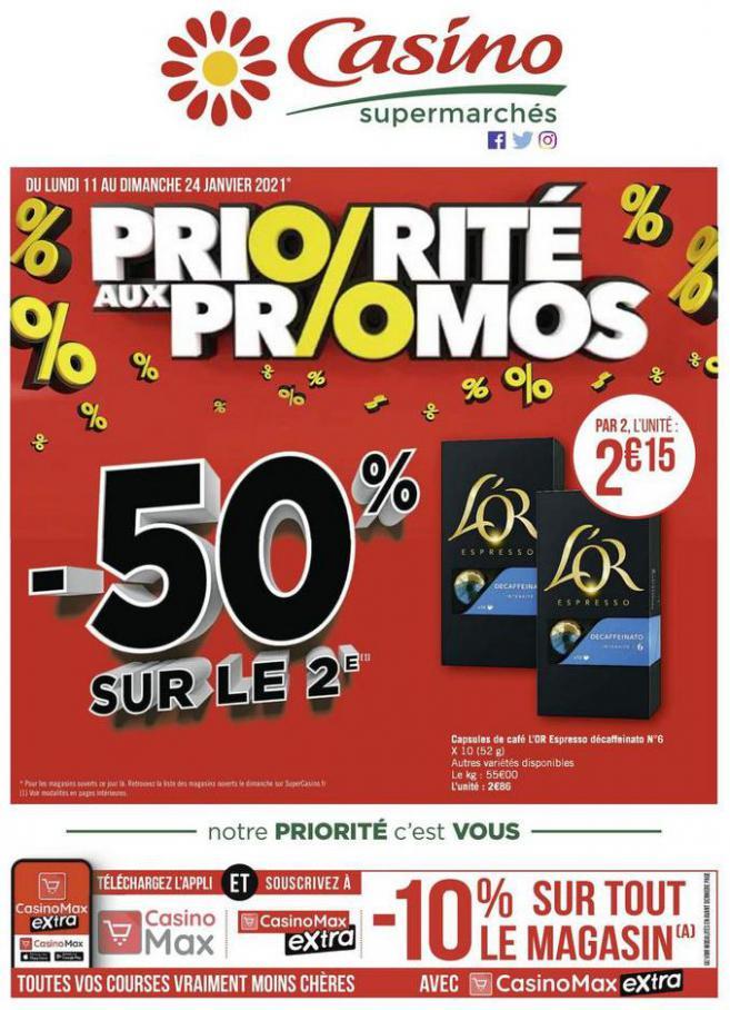 Priorité aux promos . Casino Supermarchés (2021-01-24-2021-01-24)
