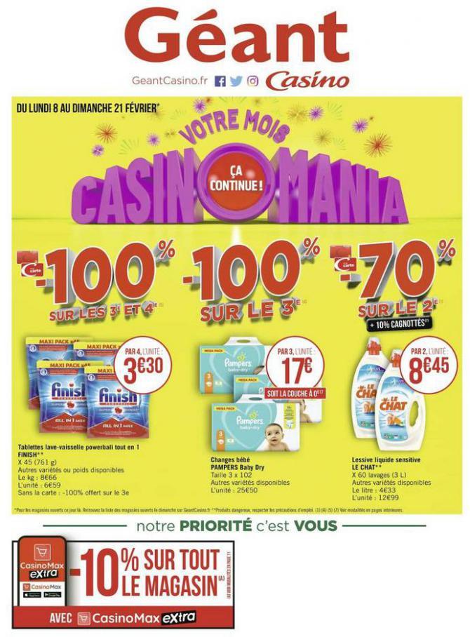 Votre mois Casinomania . Géant Casino (2021-02-21-2021-02-21)