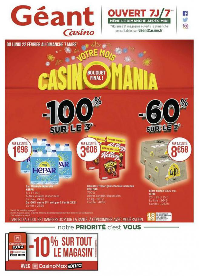 Votre mois Casinomania . Géant Casino (2021-03-07-2021-03-07)