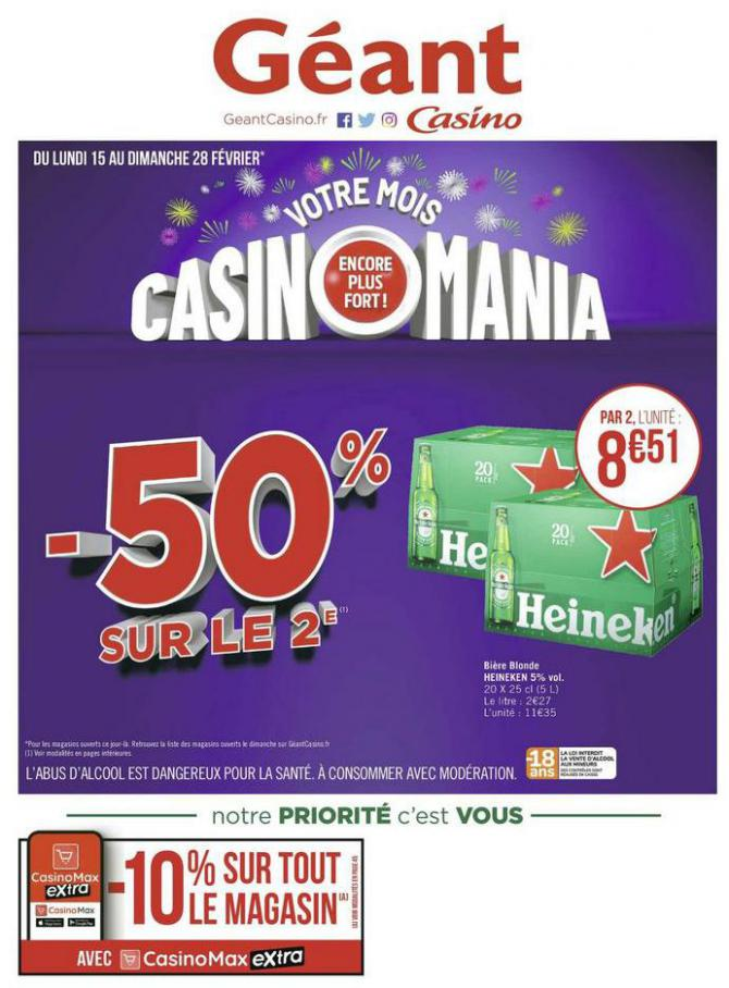Votre mois Casinomania . Géant Casino (2021-02-28-2021-02-28)