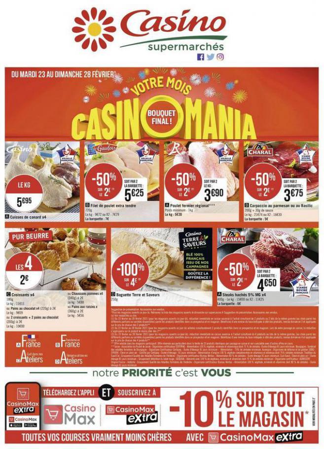 Votre mois Casinomania . Casino Supermarchés (2021-02-28-2021-02-28)