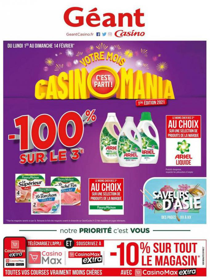 Votre mois Casinomania . Géant Casino (2021-02-14-2021-02-14)