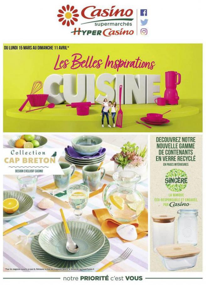 Les belles inspirations cuisine . Casino Supermarchés (2021-04-11-2021-04-11)