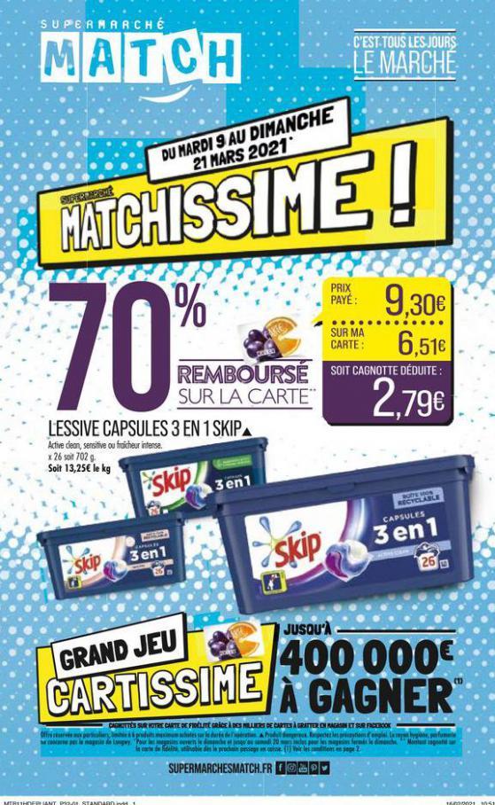 Matchissime ! . Match (2021-03-21-2021-03-21)