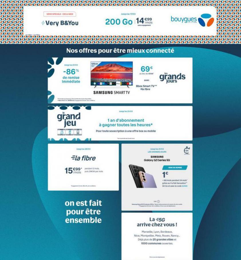 Nos offres pour être mieux connecté . Bouygues Telecom (2021-03-21-2021-03-21)