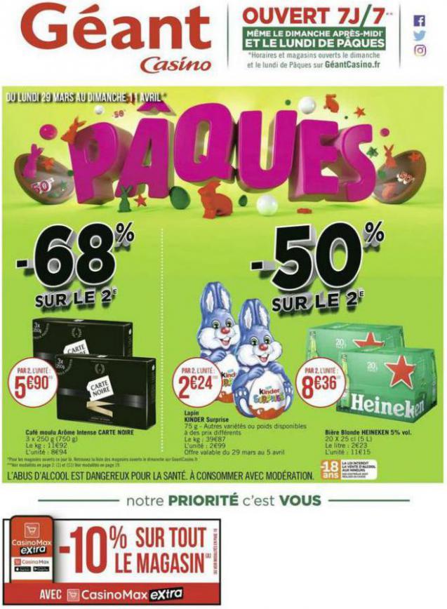 Pâques . Géant Casino (2021-04-11-2021-04-11)
