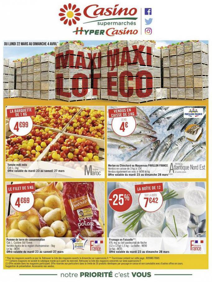 Maxi lot, maxi éco . Casino Supermarchés (2021-04-04-2021-04-04)