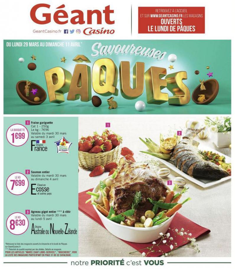 Savoureuses Pâques . Géant Casino (2021-04-11-2021-04-11)