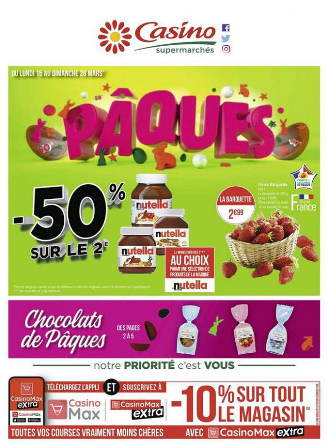 Pâques . Casino Supermarchés (2021-03-28-2021-03-28)
