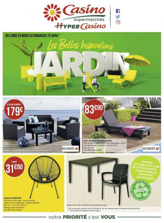Les belles inspirations jardin . Casino Supermarchés (2021-04-25-2021-04-25)