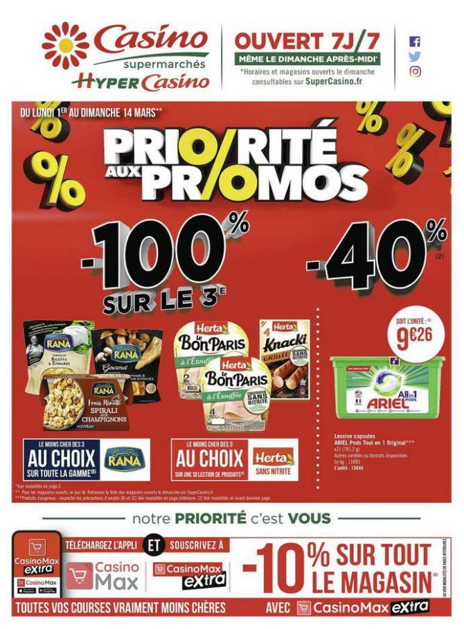 Priorité aux promos . Casino Supermarchés (2021-03-14-2021-03-14)